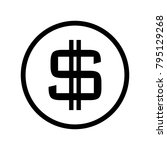 money cash in trendy flat style....