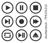 media player control buttons... | Shutterstock .eps vector #795131212