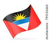 antigua and barbuda flag vector ... | Shutterstock .eps vector #795131662