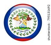 belize flag vector round icon   ... | Shutterstock .eps vector #795131692