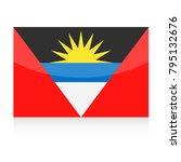 antigua and barbuda flag vector ... | Shutterstock .eps vector #795132676