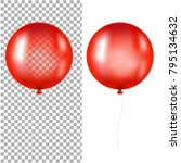 red balloons isolated with... | Shutterstock .eps vector #795134632
