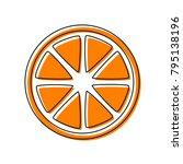fruits lemon sign. vector....   Shutterstock .eps vector #795138196