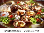 middle eastern or arabic dishes ... | Shutterstock . vector #795138745