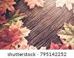 valentine love ideas concept... | Shutterstock . vector #795142252