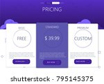three banners. pricelist ... | Shutterstock .eps vector #795145375