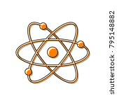 atom sign illustration. vector. ...   Shutterstock .eps vector #795148882