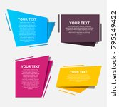 style text templates origami... | Shutterstock .eps vector #795149422