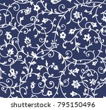 vintage floral pattern. rich... | Shutterstock .eps vector #795150496