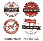 vector vintage badge label of... | Shutterstock .eps vector #795151666