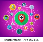 medical flat icon concept.... | Shutterstock .eps vector #795152116