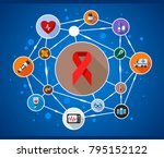 medical flat icon concept.... | Shutterstock .eps vector #795152122