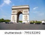 paris  france 2 may 2017  ... | Shutterstock . vector #795152392