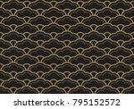 seamless ethnic seigaiha... | Shutterstock .eps vector #795152572