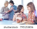 powerful computer. brilliant... | Shutterstock . vector #795153856