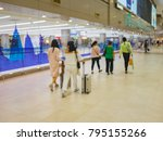 blur image of passenger and... | Shutterstock . vector #795155266