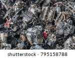 scrap yard for recycle the... | Shutterstock . vector #795158788