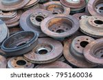 scrap yard for recycle the... | Shutterstock . vector #795160036