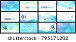 business presentation templates.... | Shutterstock .eps vector #795171202