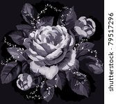 vintage monochrome rose with... | Shutterstock .eps vector #79517296