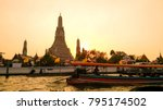 temple of dawn during the... | Shutterstock . vector #795174502