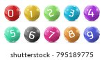 vector lotto colored balls with ... | Shutterstock .eps vector #795189775