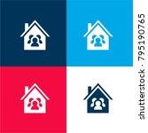family house four color...   Shutterstock .eps vector #795190765