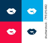 lips four color material and...   Shutterstock .eps vector #795191482