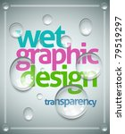 vector wet poster template.... | Shutterstock .eps vector #79519297