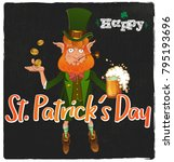 happy st. patrick's day.... | Shutterstock .eps vector #795193696