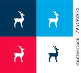 deer facing right four color... | Shutterstock .eps vector #795193972
