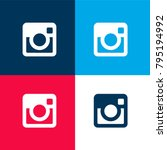 big instagram logo four color...