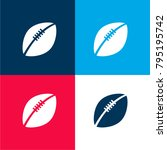 rugby ball four color material...