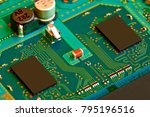 electronic circuit board close... | Shutterstock . vector #795196516