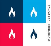flame four color material and...