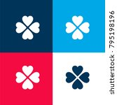 four leaf clover four color...