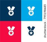 ribbon badge award four color...