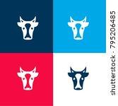 cow face front four color...