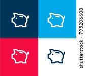 saving pig four color material...
