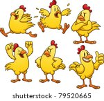 Cute Cartoon Yellow Chicken....