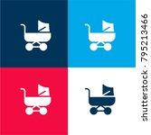 baby stroller four color... | Shutterstock .eps vector #795213466