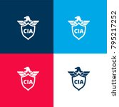 cia shield symbol with an eagle ...   Shutterstock .eps vector #795217252