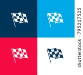 race flag four color material... | Shutterstock .eps vector #795217525