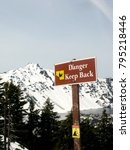danger keep back sign. crater... | Shutterstock . vector #795218446