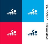 swimmer four color material and ...