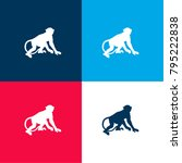 monkey four color material and...