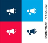 megaphone four color material...   Shutterstock .eps vector #795223852