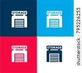 storage four color material and ...