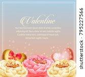 valentine day card heart... | Shutterstock .eps vector #795227566