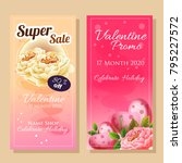 banner sale in valentine theme | Shutterstock .eps vector #795227572
